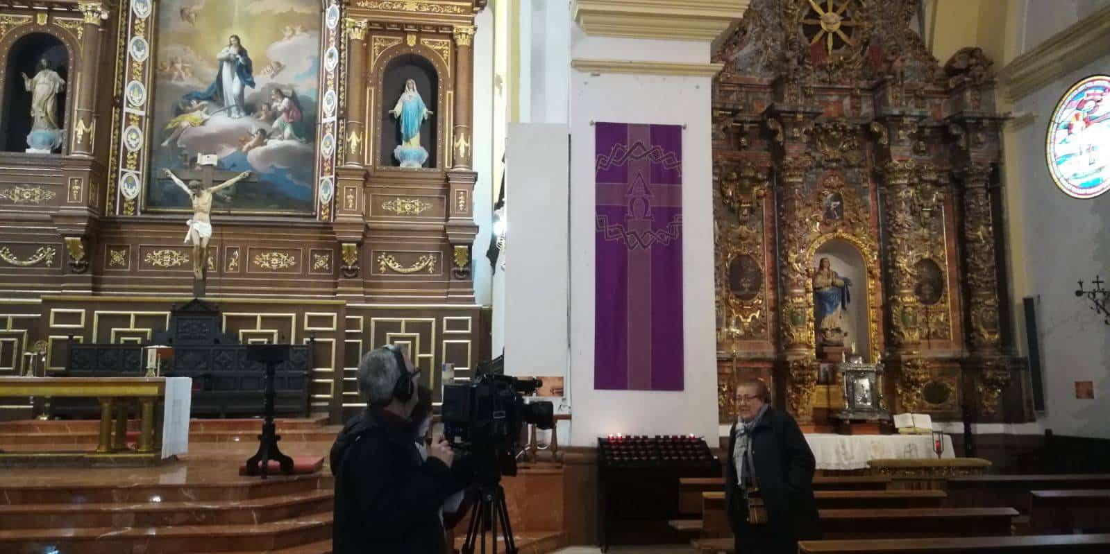 Mancha Centro Television en la parroquia de Herencia  - Mancha Centro Televisión emite un especial sobre la parroquia de Herencia