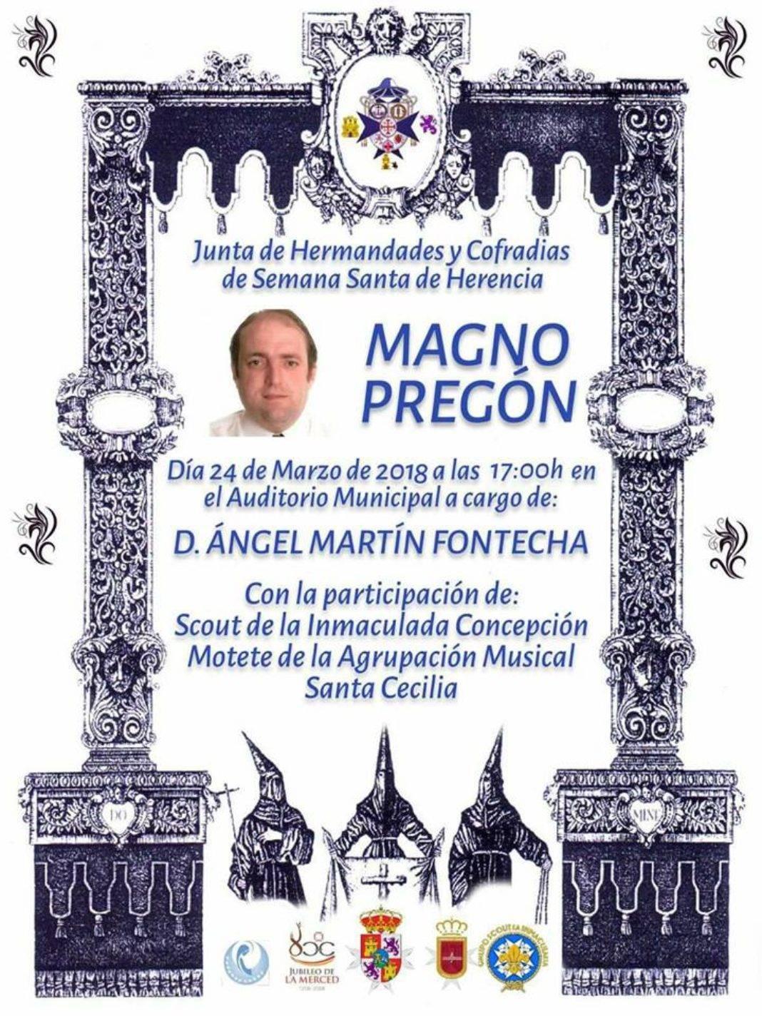 Pregón de Semana Santa 1068x1424 - Ángel Martín-Fontecha dará el pregón de la Semana Santa