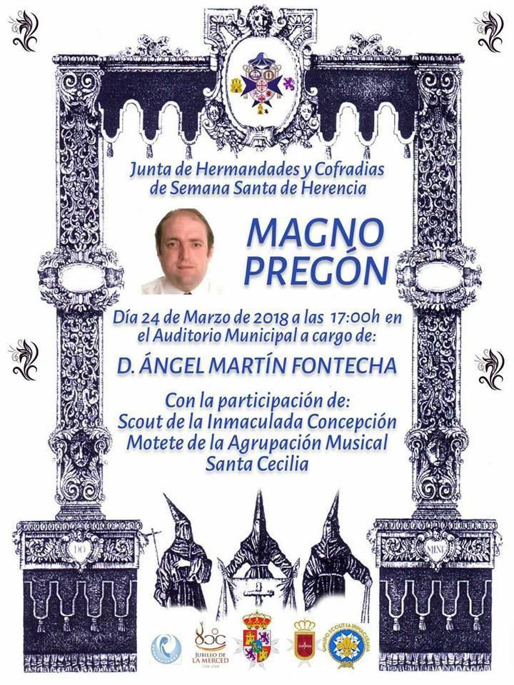 Pregón de Semana Santa - Ángel Martín-Fontecha dará el pregón de la Semana Santa