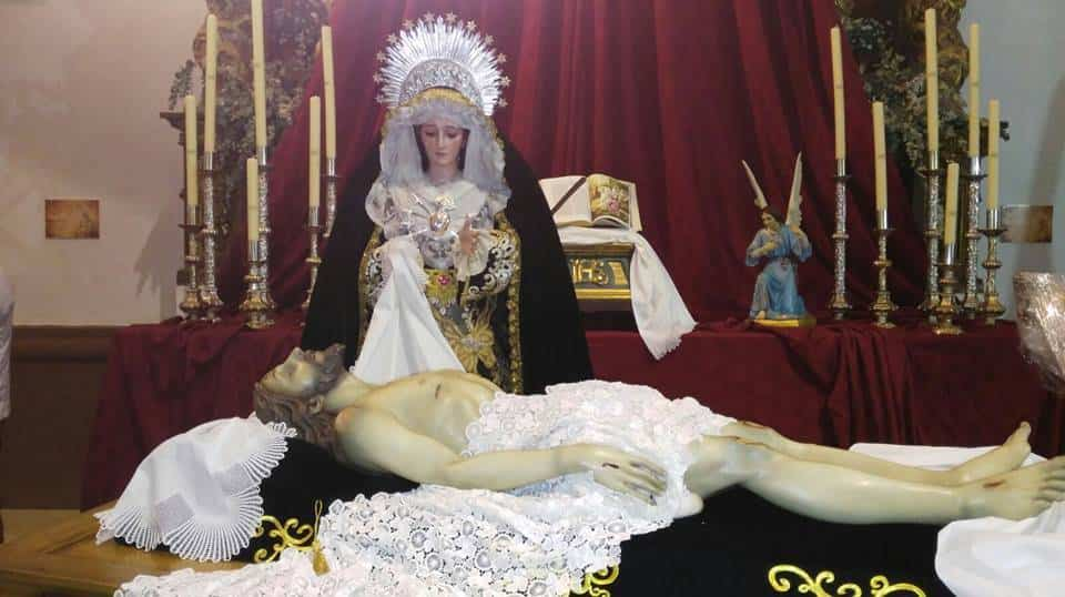 Santo entierro yacente Virgen de los Dolores - Procesiones de la Semana Santa de Herencia. Horarios y recorridos
