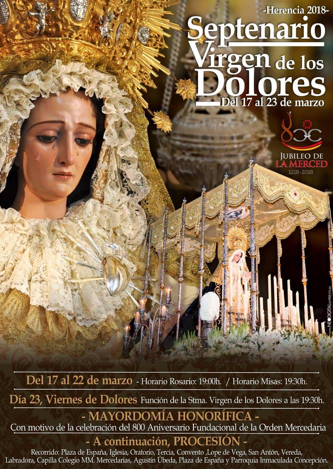 Septeario Virgen de los Dolores - Septenario y procesión de la Virgen de los Dolores