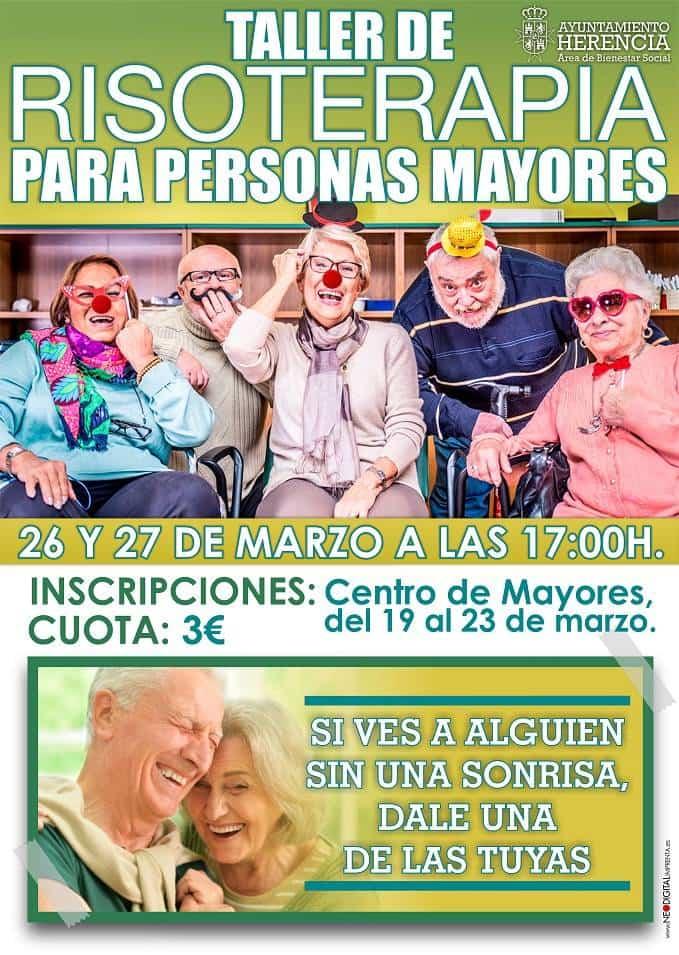 Taller de risoterapia en el Centro de Mayores de Herencia - Taller de risoterapia para personas mayores