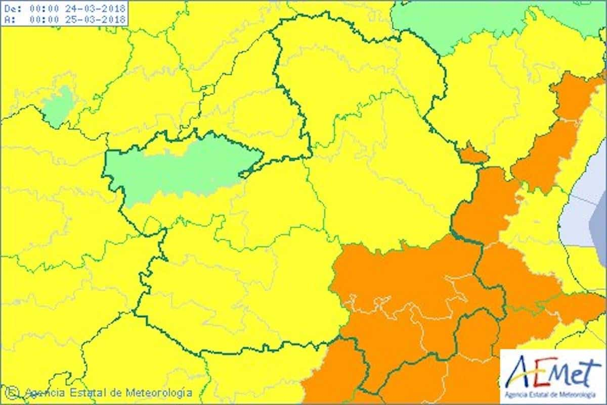 aviso amarillo clm - La borrasca Hugo y sus rachas de viento también podría llegar a Herencia