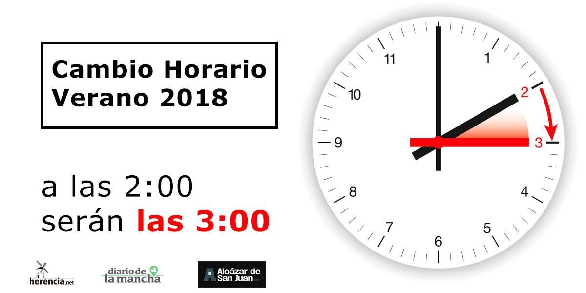 cambio horario verano 2018 - Cambio al Horario de Verano en 2018: A las 2:00 serán las 3:00