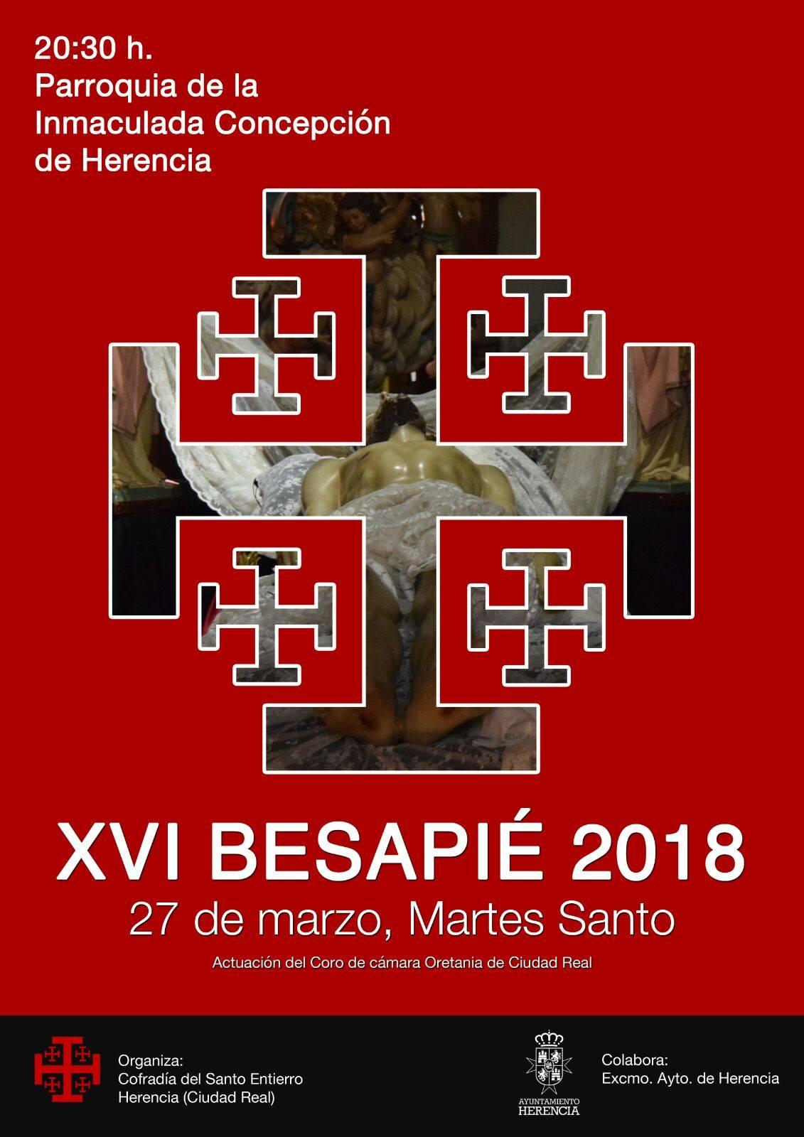 cartel besapies santo entierro herencia 2018 - La cofradía del Santo Entierro prepara su acto cofrade