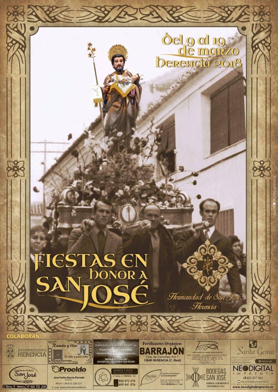 cartel festividad san jose herencia 2018 1068x1503 - Programa de actos con motivo de la festividad de San José