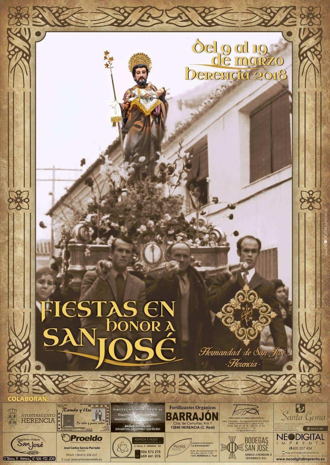 cartel festividad san jose herencia 2018 - Programa de actos con motivo de la festividad de San José