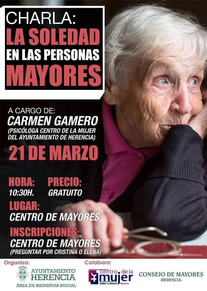charla sobre la soledad e las personas mayores Herencia - Charla sobre la soledad en las personas mayores