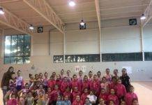 Olivia Montoya visitó a las chicas de gimnasia rítmica del SMD