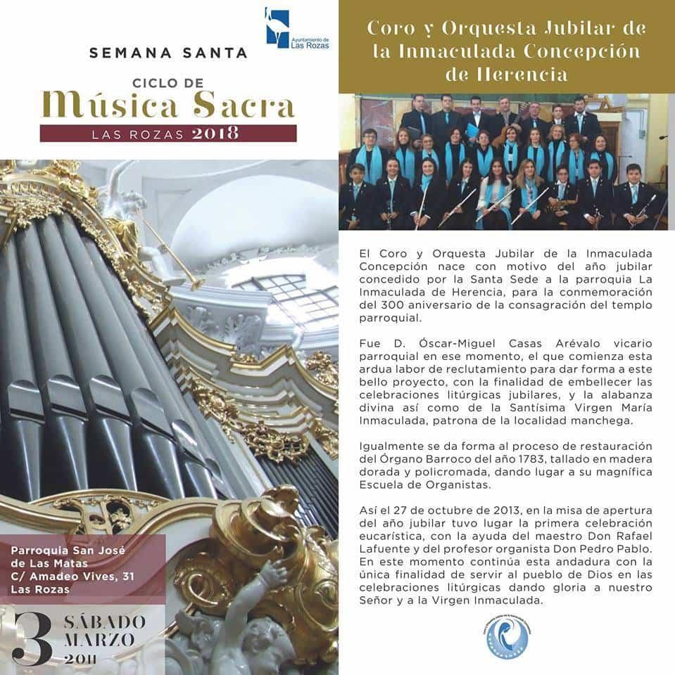 concierto de musica sacra de Las Rozas con el coro jubilar de herencia - El Coro y Orquesta Jubilar de la Inmaculada Concepción actuó en Las Rozas
