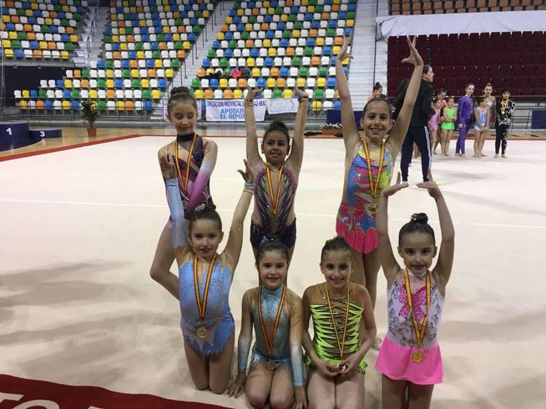 gimnasia ritmica herencia 7 1068x801 - Equipo Gimnasia Rítmica de Herencia en el Campeonato Provincial