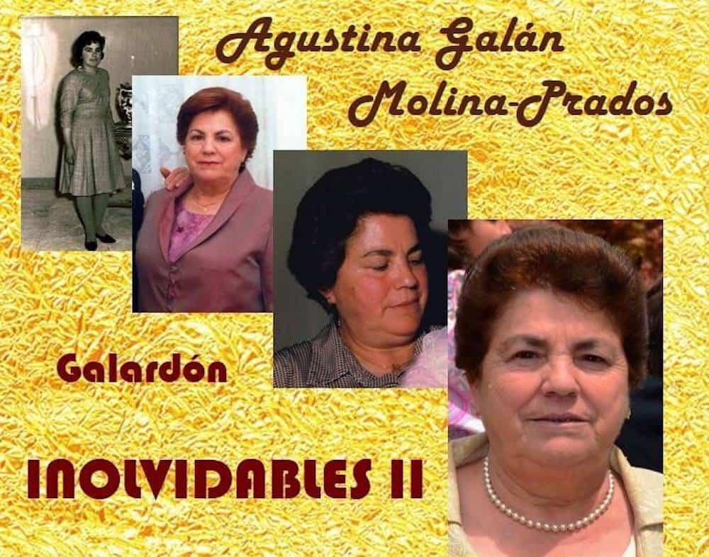 homenaje agustina galan molina prados - Agustina Galán Molina-Prados recibe el galardón inolvidables