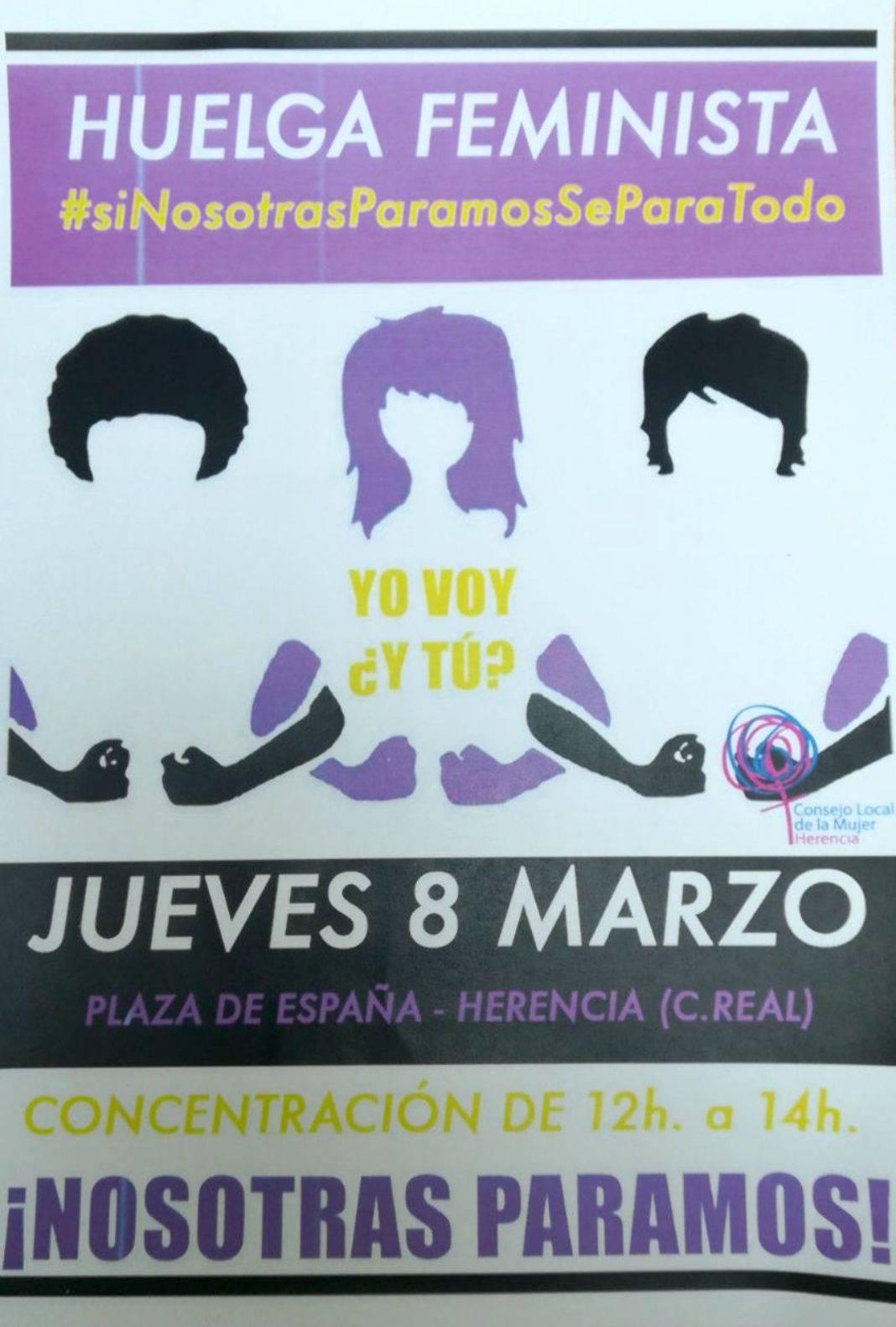 El Consejo Local de la Mujer de Herencia apoya la huelga feminista 5