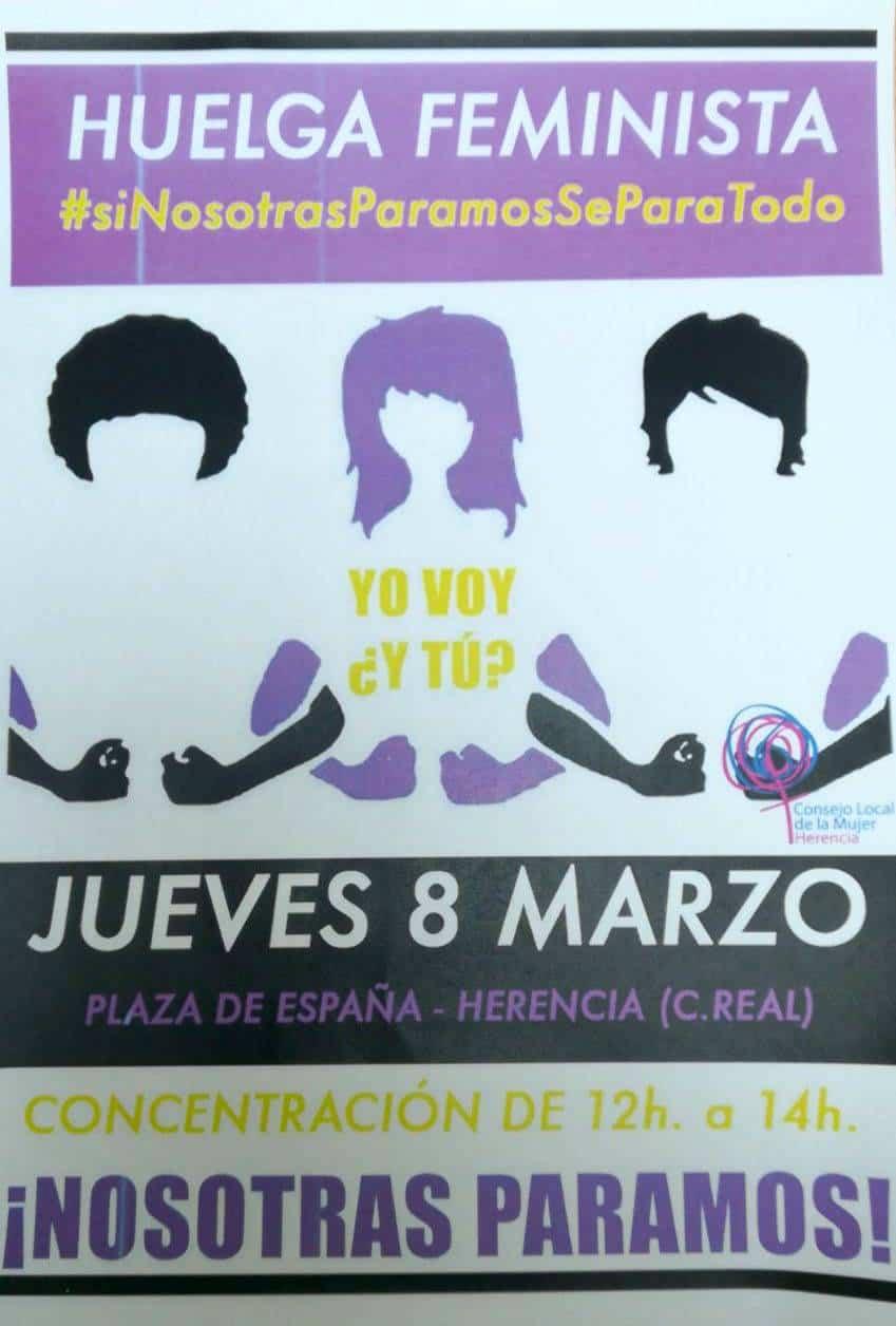 huelga faminista en Herencia - El Consejo Local de la Mujer de Herencia apoya la huelga feminista