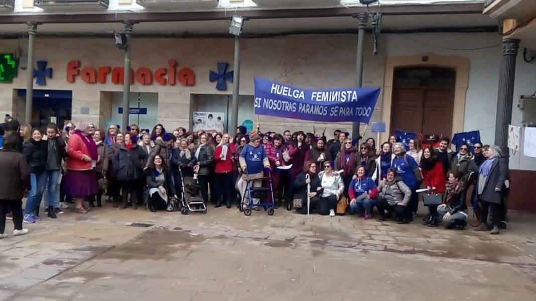 Vídeo y Fotogalería de la Huelga Feminista en Herencia 8