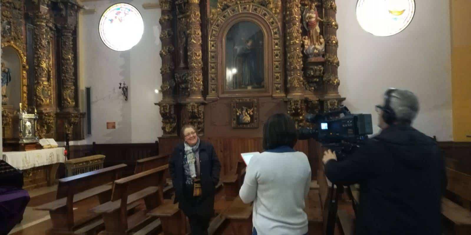 """mancha centro television en la parroquia de herencia2 - Vídeo del programa """"Iglesia en camino"""" sobre la parroquia de Herencia"""