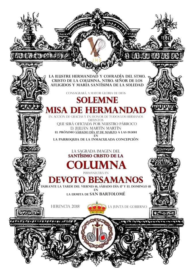 Acto cofrade de la hermandad del Santo y besamanos del Cristo de la Columna 8