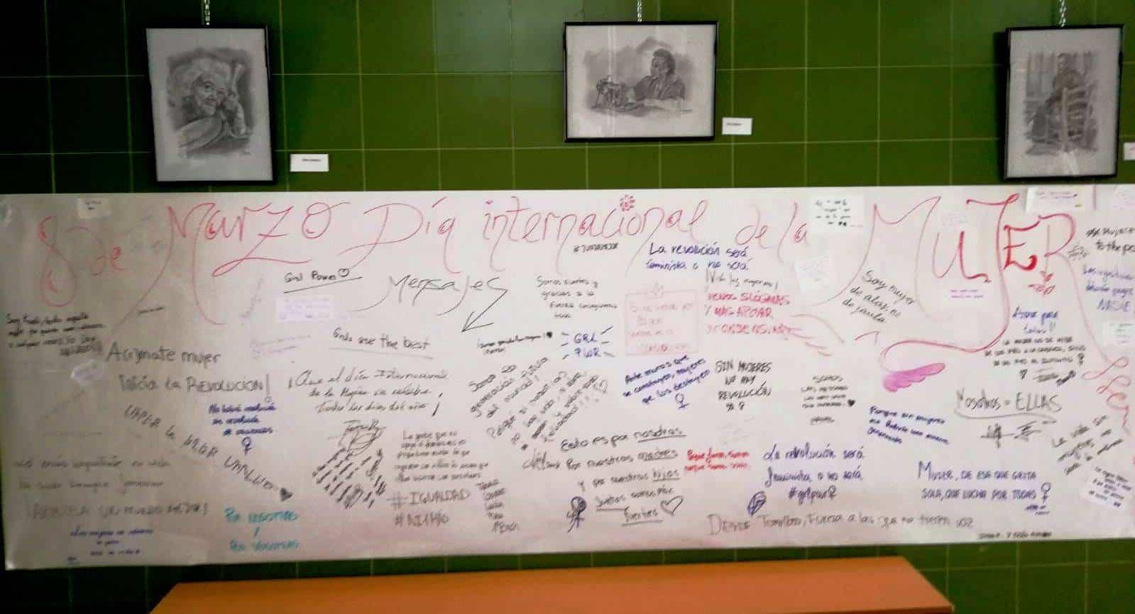 mural dia internacional mujer hermogenes rodriguez - Alzando la voz por la igualdad entre sexos