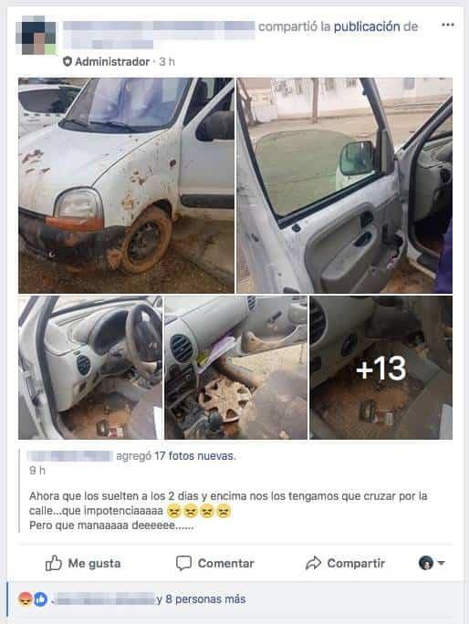publicacion estado furgoneta robada - Recuperada la furgoneta que fue robada en Herencia