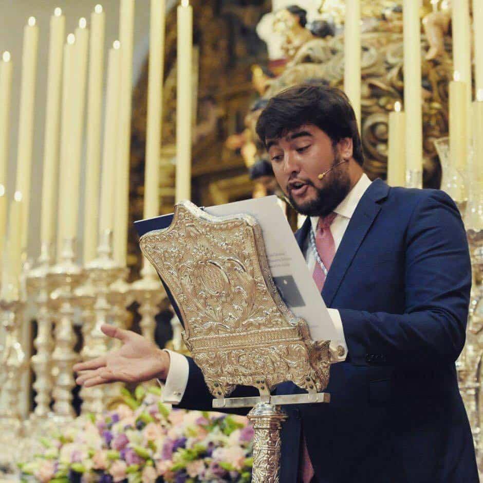 sevillano alvaro carmona lopez - El sevillano Álvaro Carmona López pregonero de Vísperas de El Santo