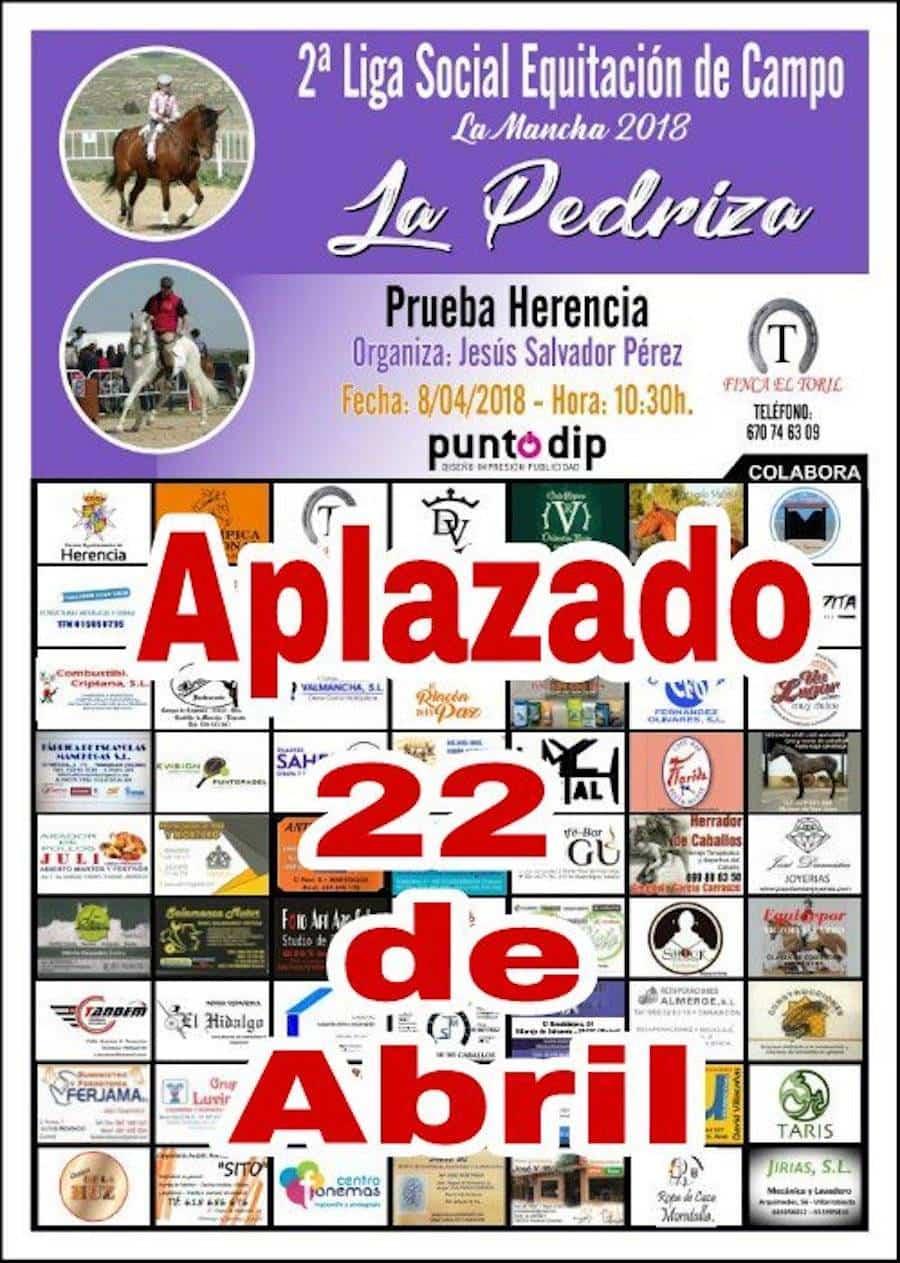 2 liga social equitacion aplazado - 2ª Liga Social Equitación de Campo en Herencia se celebrará el 22 de abril