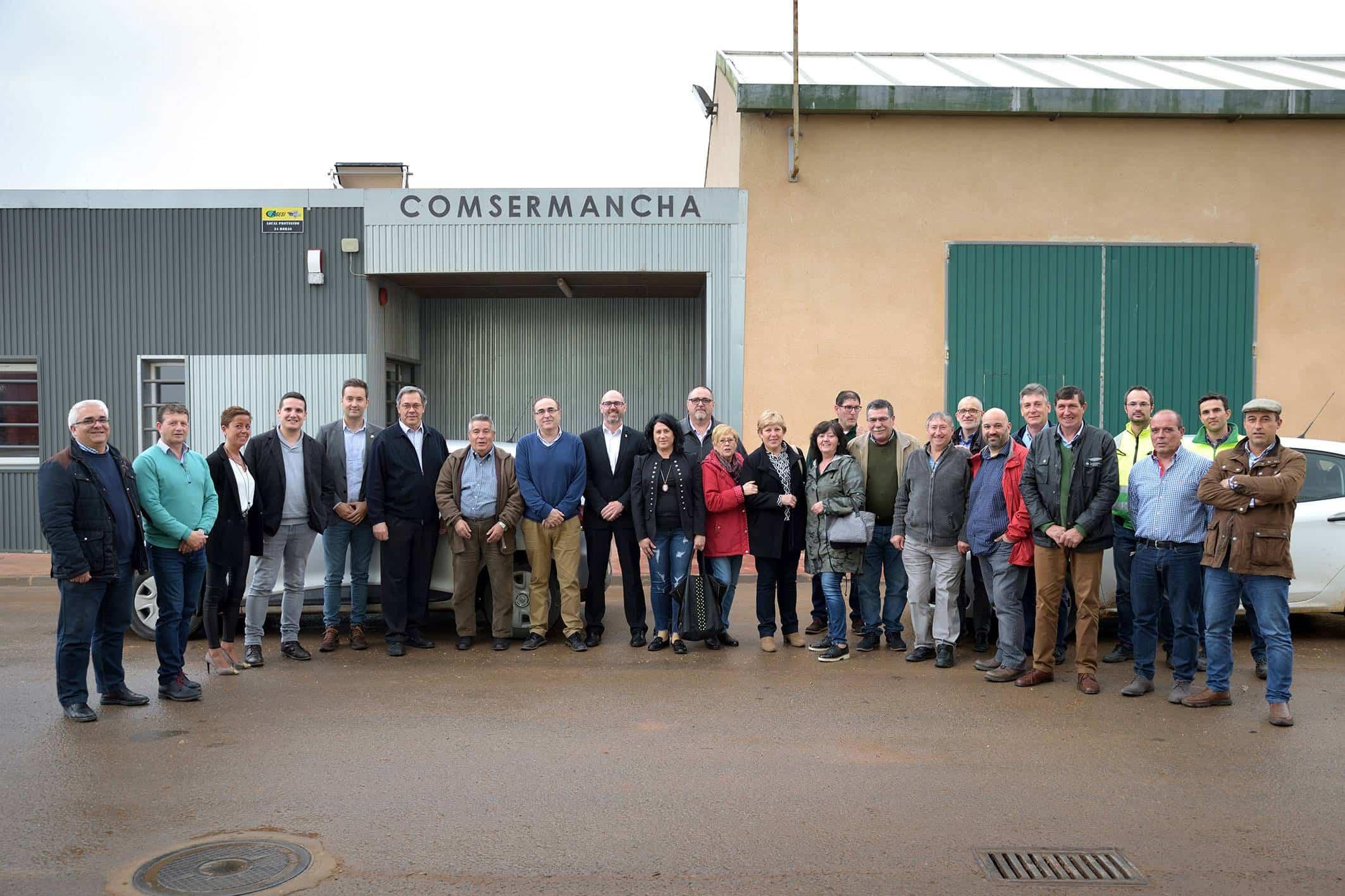 Corporacion Comsermancha Visita planta RSU006 - La Corporación de Comsermancha visita la planta de RSU y el Patronato