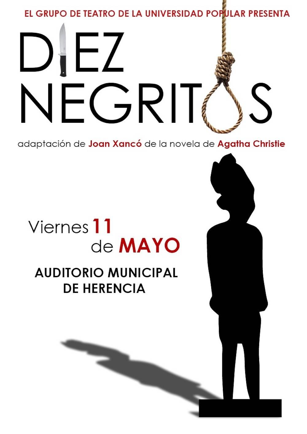 "Diez Negritos teatro herencia - Grupos de Teatro de Herencia presenta la obra ""Diez Negritos"""