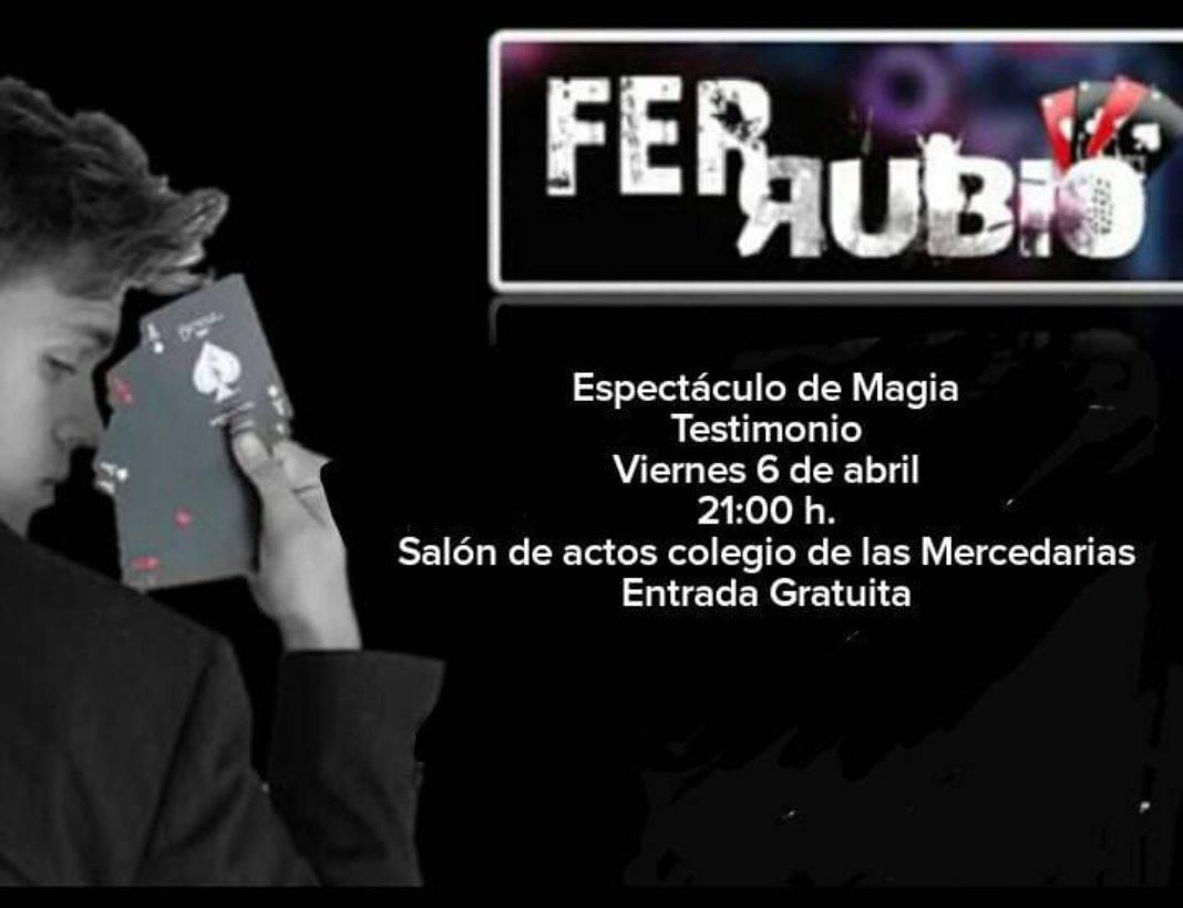 Fer Rubio espectaculo de magia 1068x820 - La pastoral juvenil organiza un espectáculo de magia-testimonio