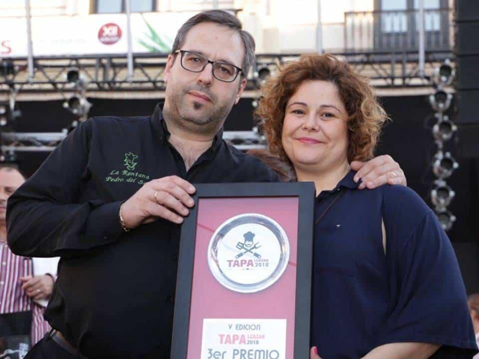 Gerentes del restaurante La Rantana  - Dos herencianos premiados en Tapalcázar 2018