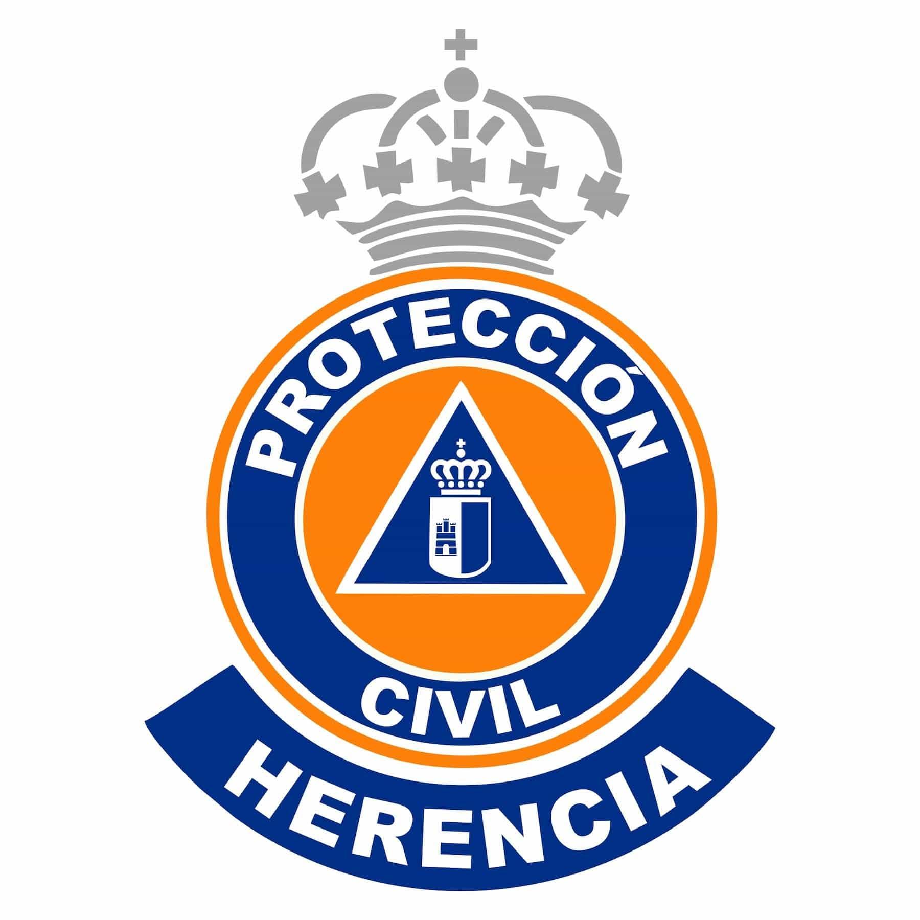 LOGO Proteccion Civil Herencia - La Junta destina un equipo electrógeno y complementos para Protección Civil de Herencia