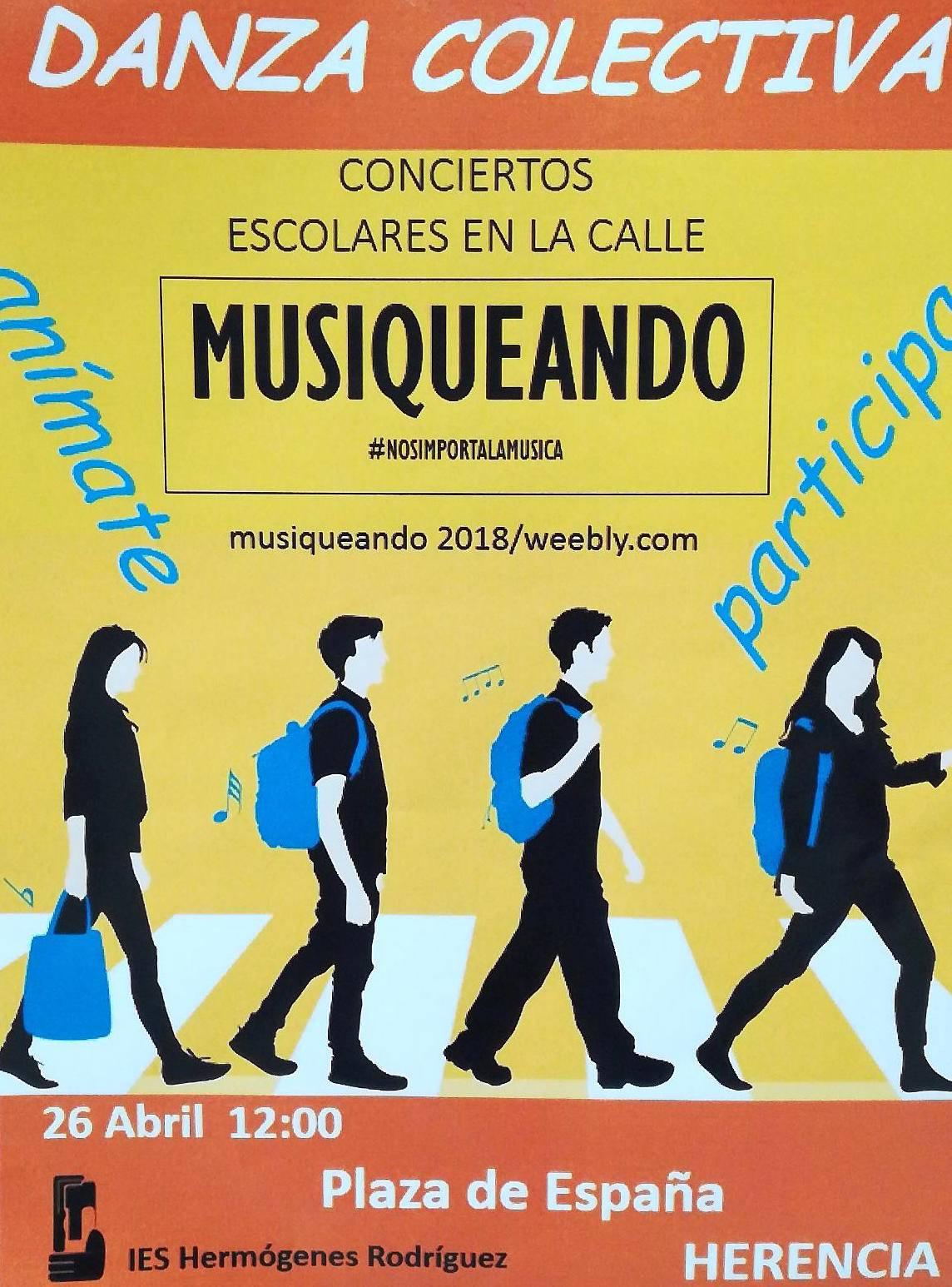 Musiqueando 2018 IES hermoges Rodr%C3%ADguez 1 - El IES participa de Musiqueando 2018 con música en la calle