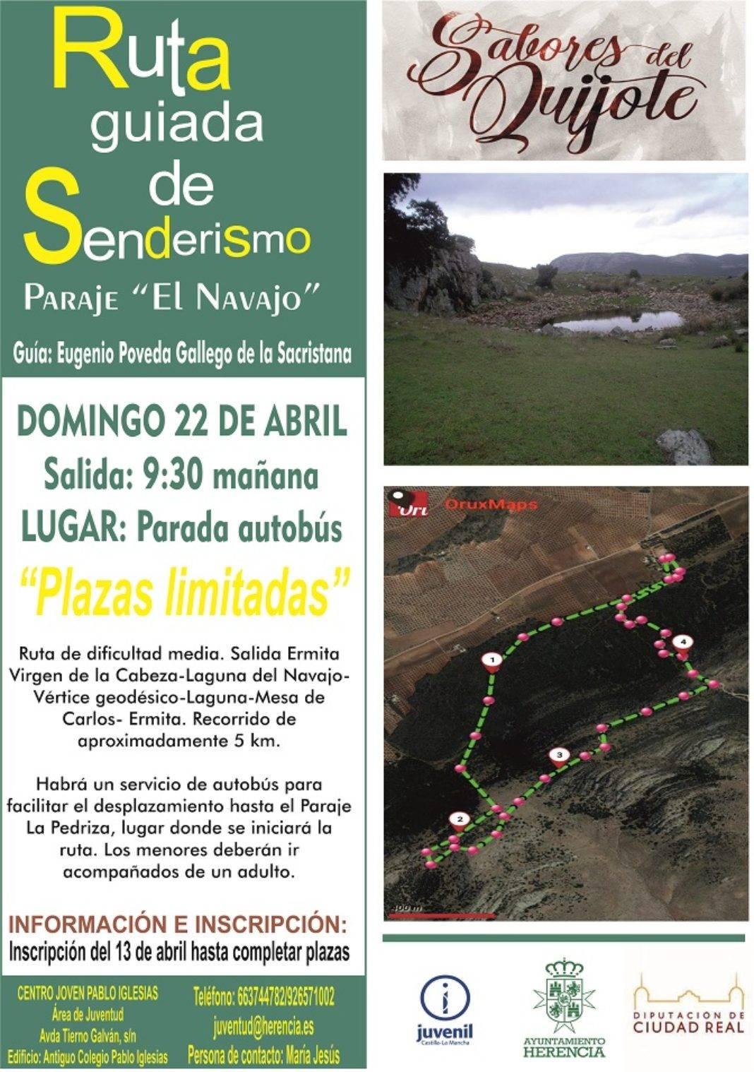"""Nota informativa: Ruta de Senderismo """"Sabores del Quijote"""" en El Navajo 4"""