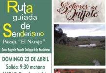 """Nota informativa: Ruta de Senderismo """"Sabores del Quijote"""" en El Navajo"""