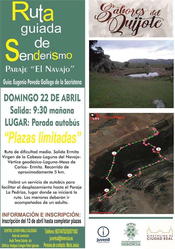 """Senderismo Sabores del Quijote - Nota informativa: Ruta de Senderismo """"Sabores del Quijote"""" en El Navajo"""