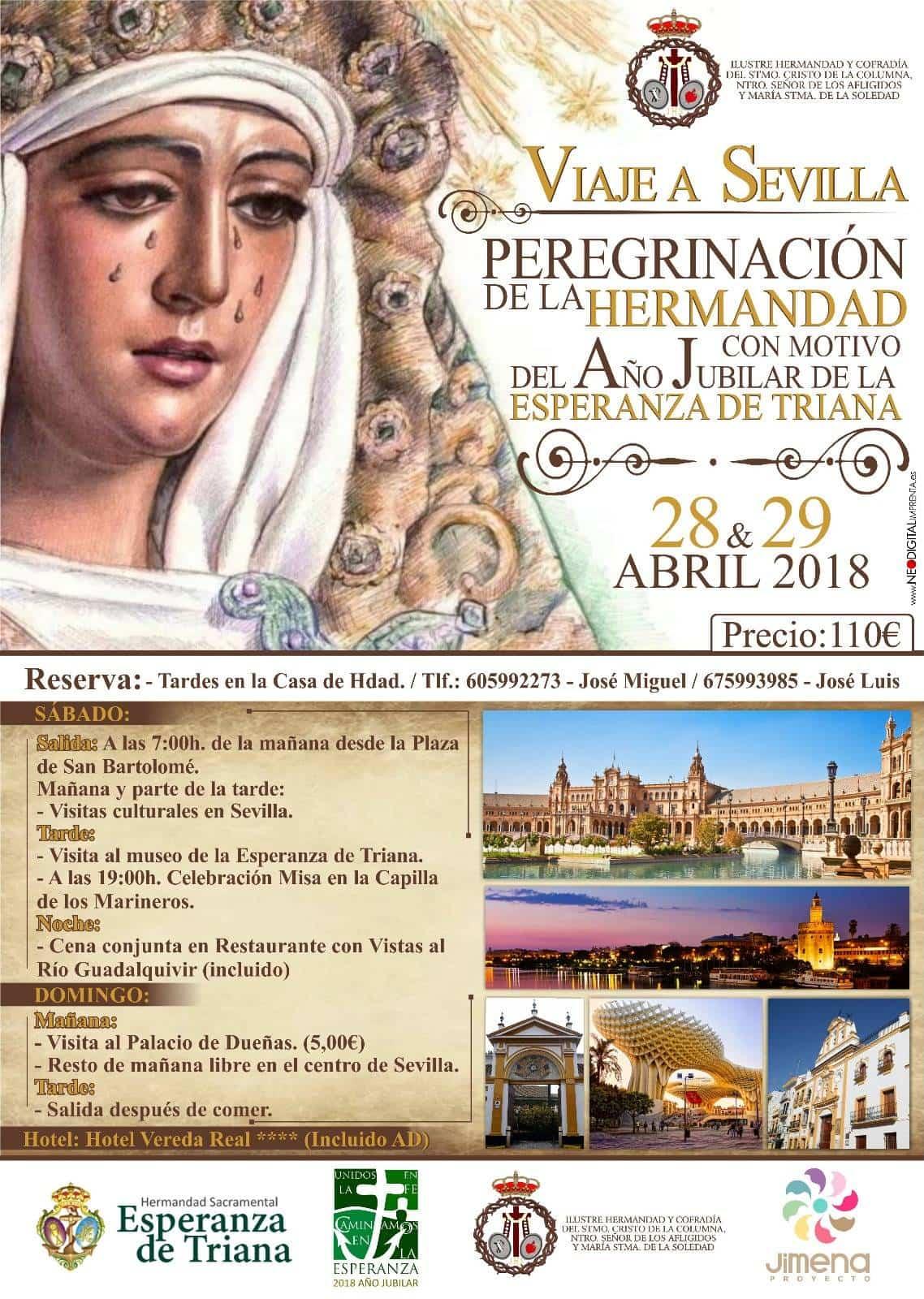 Viaje a Sevilla de la hermandad de El Santo de Herencia - La Hermandad de El Santo organiza un viaje-peregrinación a Sevilla