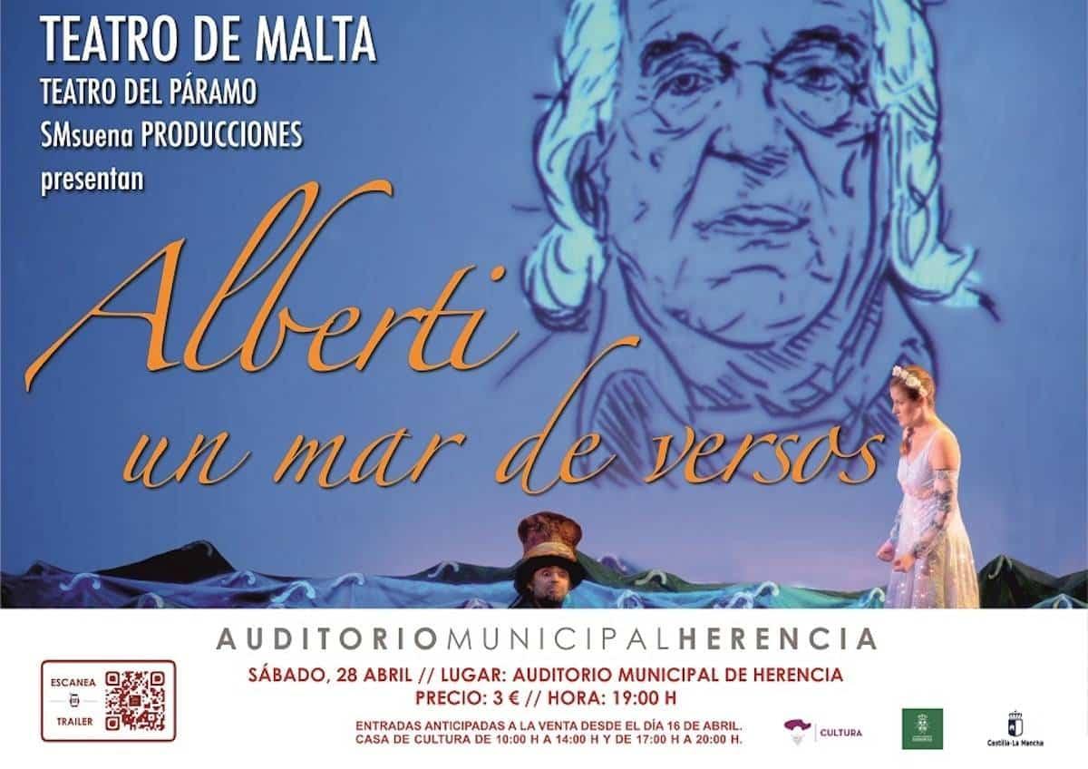 """Teatro familiar en Herencia: """"Alberti, un mar de versos"""" 3"""