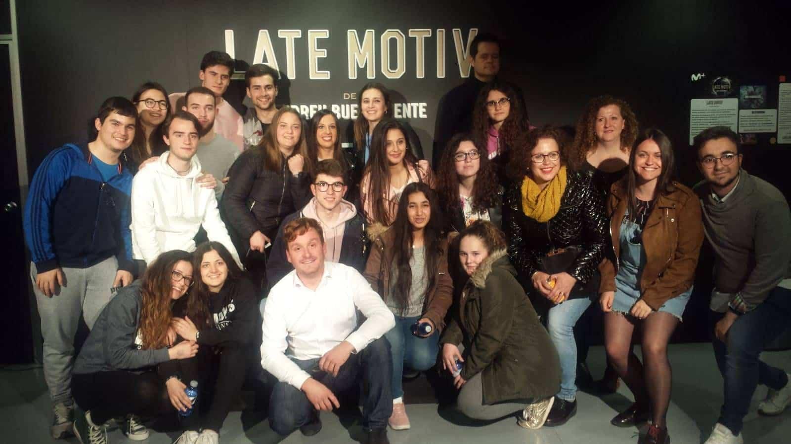 alumnos hermogenez latemotiv buenfuente - Alumnos del Hermógenes visitaron el programa Late Motiv de Buenafuente