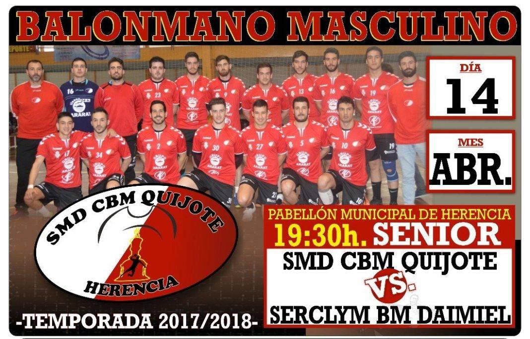 Balonmano SMD CBM Quijote vs Serclym BM Daimiel el 14 de abril 1