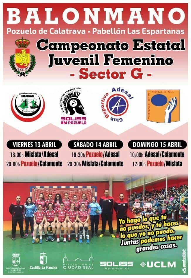 campeonato estatal juvenil femenino de balonmano - Dos herencianas en el campeonato estatal juvenil de balonmano
