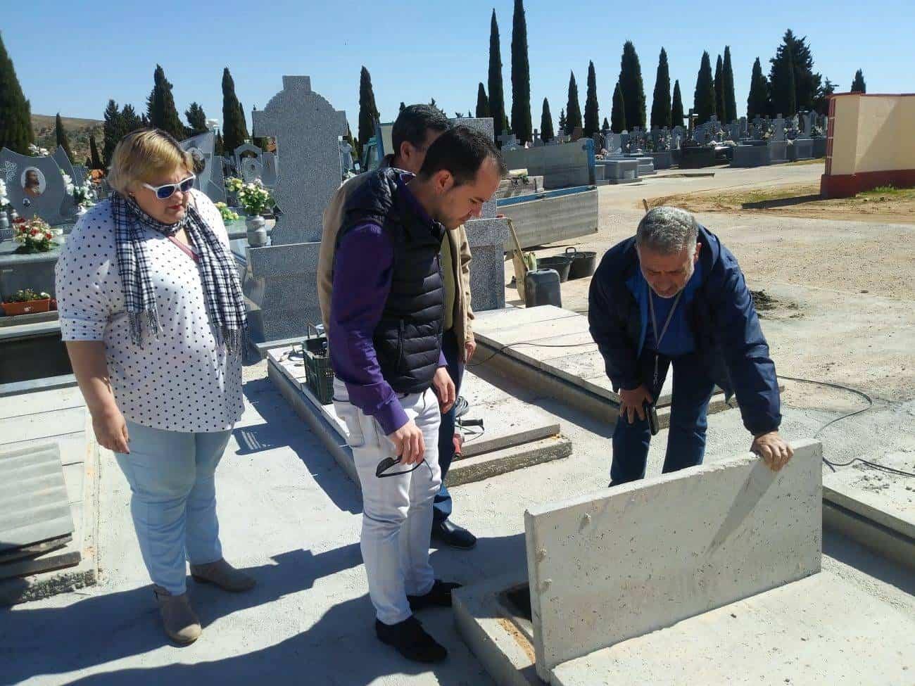 construccion nuevas fosas cementerio municipal herencia 3 - Cementerio municipal: nueva fase para la construcción de fosas