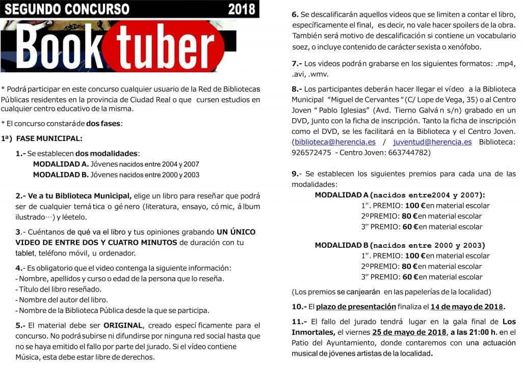 """Bases II Concurso Booktuber interior 1024x729 - Ampliado el plazo para participar en el II Concurso de Booktuber """"Bibliotuber"""""""