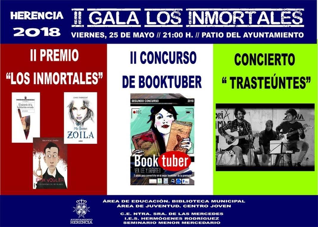 """CARTEL II GALA LOS INMORTALES. 1068x763 - II Gala del Proyecto Lector """"Los Inmortales"""""""