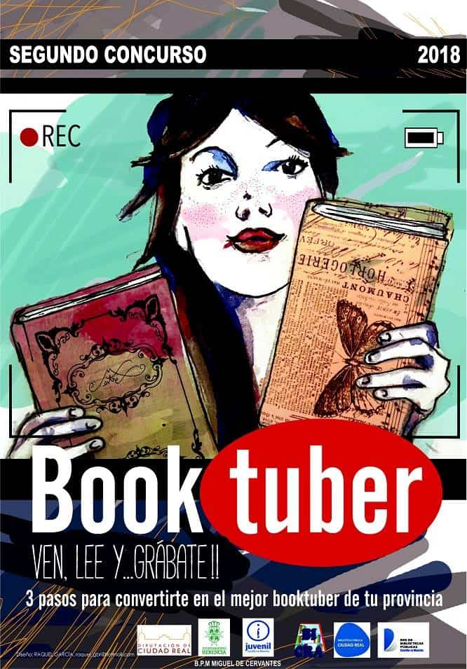 """Cartel II Concurso Booktuber. - Ampliado el plazo para participar en el II Concurso de Booktuber """"Bibliotuber"""""""