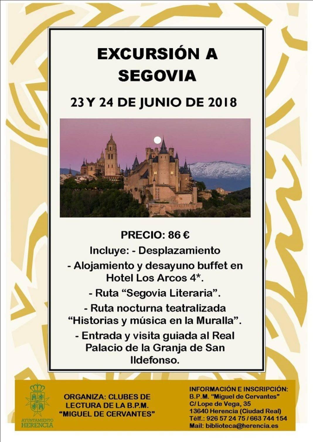 Cartel excursion Segovia 1068x1511 - Los clubes de lectura organizan un viaje a Segovia
