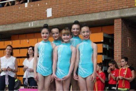 Celia Martin en el campeonato regional de gimnasia ritimica de Albacete