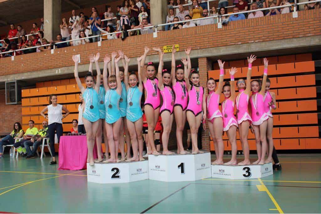 Celia Martin en el campeonato regional de gimnasia ritimica de Albacete2 - Celia Martín subcampeona regional alevín de gimnasia rítmica