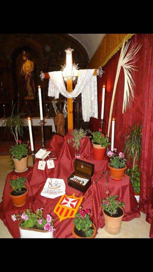 Cruz de mayo de la iglesia conventual de la merced - Las cruces de Mayo vuelven a Herencia