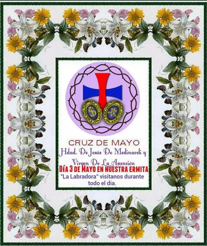 Cruz de mayo en la ermita de la Labradora - Las cruces de Mayo vuelven a Herencia