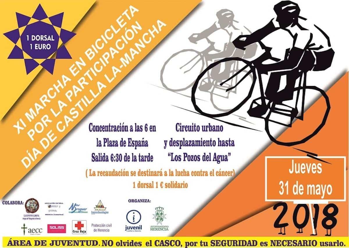 """Marcha en bicicleta 2018 - XI Marcha en Bicicleta """"Todos contra el cáncer"""" el Día de Castilla-La Mancha"""