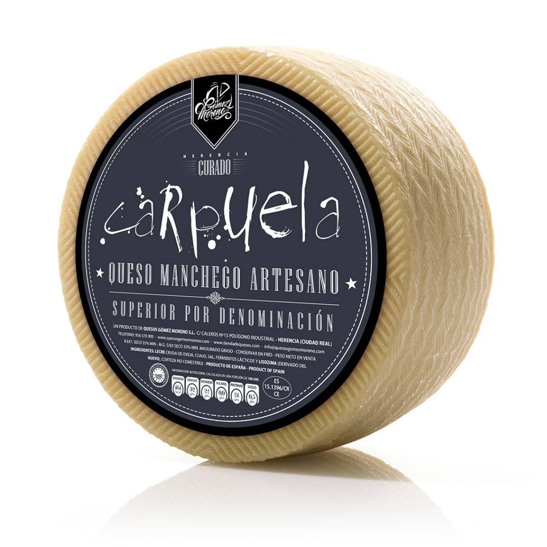 PRODUCTO GOMEZ MORENO 03 queso carpuela 1068x1068 - Carpuela es elegido como el mejor queso manchego curado en Expovican 2018